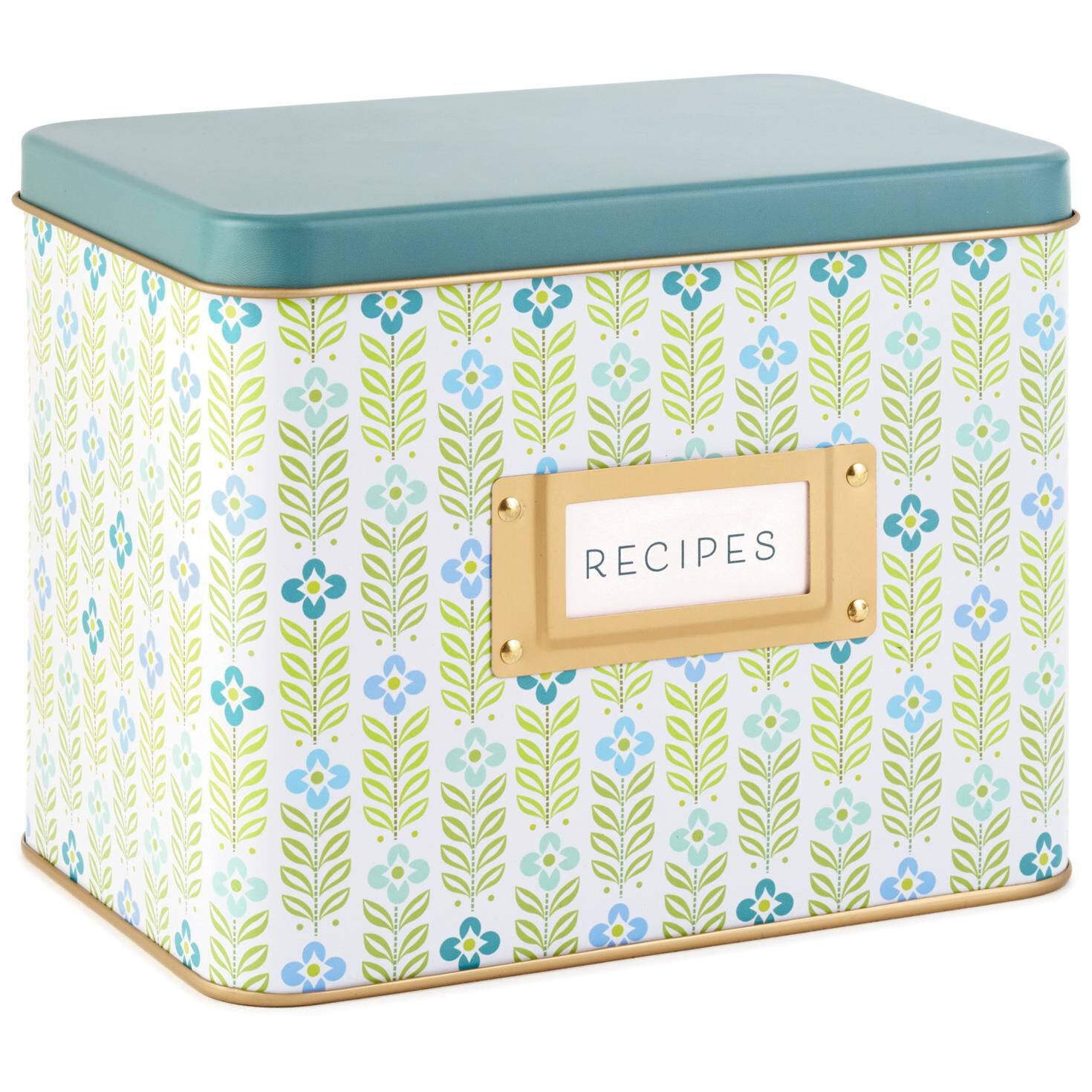 mid century modern tin recipe card holder recipe organizers hallmark