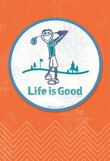 Life is Good® Golf Coaster Birthday Card,