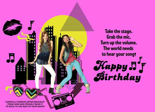 Disney Shake It Up Birthday Card,