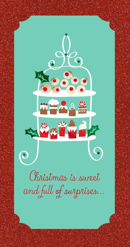 sweets for all christmas card money holder - Christmas Card Money Holder