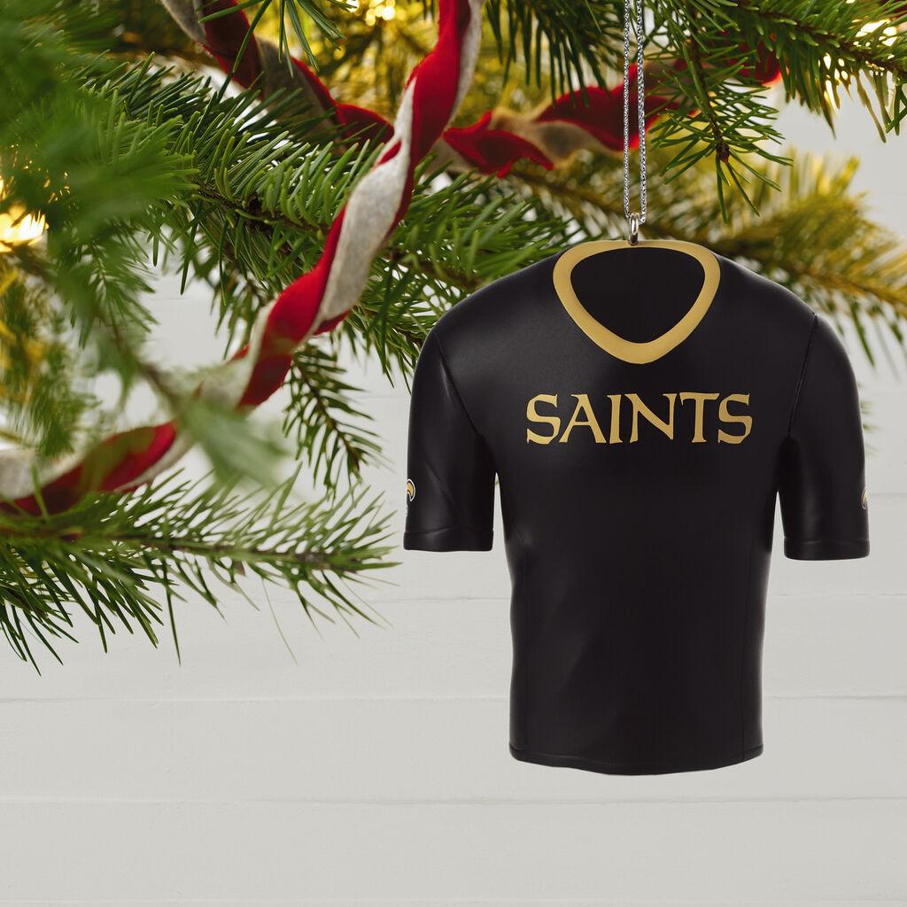 New Orleans Saints Christmas Ornaments.New Orleans Saints Jersey Ornament