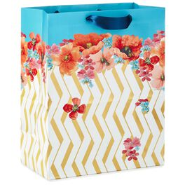 """Marjolein Bastin Poppies and Zigzags Large Gift Bag, 13"""", , large"""