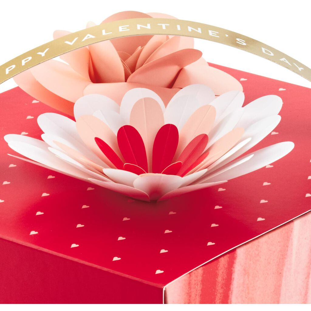 Happy Valentine S Day Gift Box With Flowers Gift Boxes Hallmark