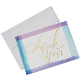 Watercolor Brush Strokes Thank You Notes, Box of 10, , large