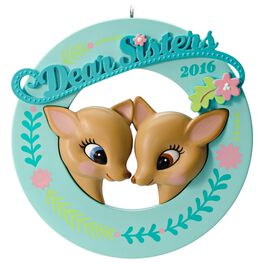 Deer Dear Sisters Ornament, , large