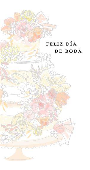 Endless Happiness Spanish-Language Money Holder Wedding Card