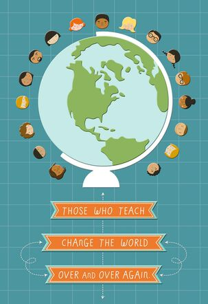 Globe Teacher Appreciation Card