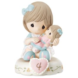 Precious Moments® Growing in Grace—Age 4 Brunette Girl Porcelain Figurine, , large