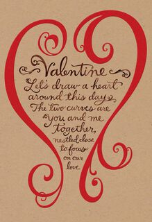 You and Me Together Valentine's Day Card,