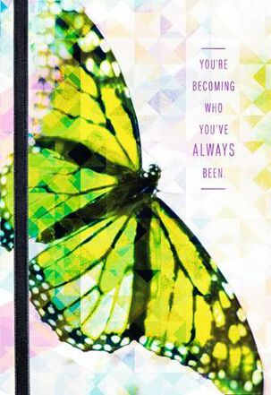 Butterfly Transition Encouragement Card