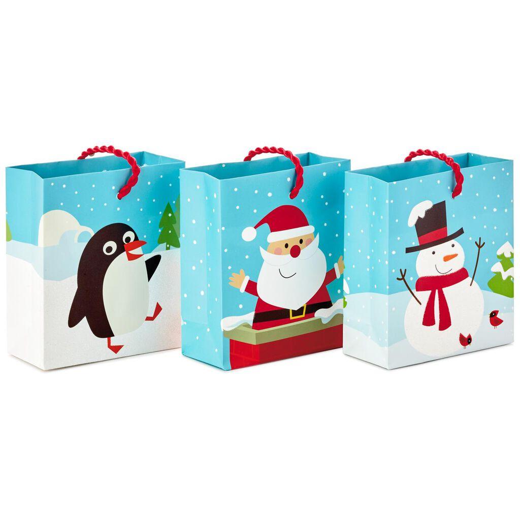 Christmas Fun 3-Pack Gift Card Holder Mini Bags, 4.5\