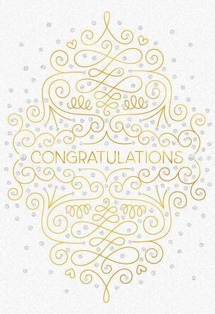 Gold Script Wedding Congratulations