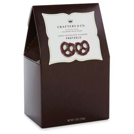 5.5 oz. Dark Chocolate-covered Pretzels in Gift Box, , large