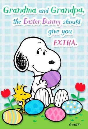 Peanuts® Snoopy Easter Card For Grandma and Grandpa