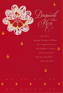 Charms of Deepawali Card,