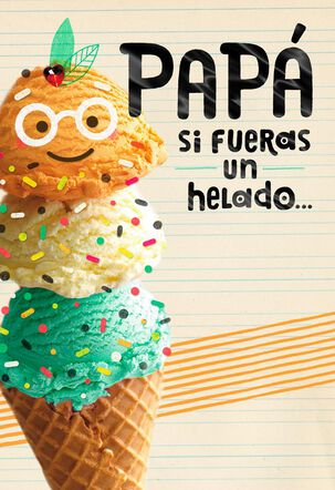 Happy With Extra Sprinkles Spanish-Language Father's Day Card for Dad