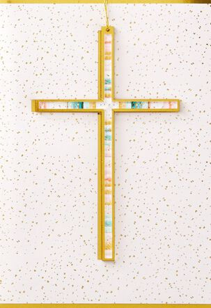 Painted Cross Easter Card