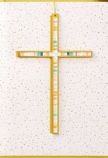 Painted Cross Easter Card,