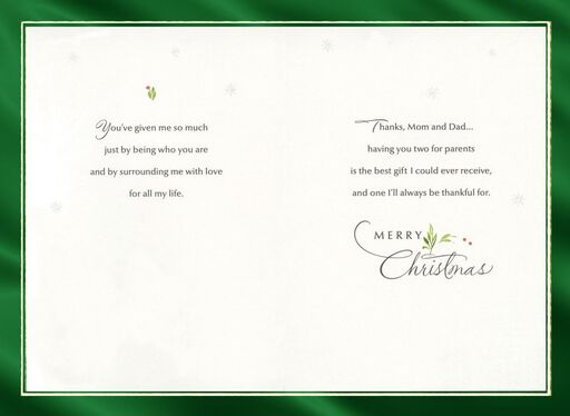Best Gift Christmas Card for Parents,