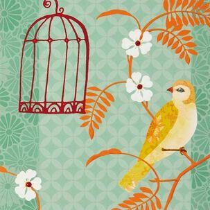 Bird Cage Blank Card
