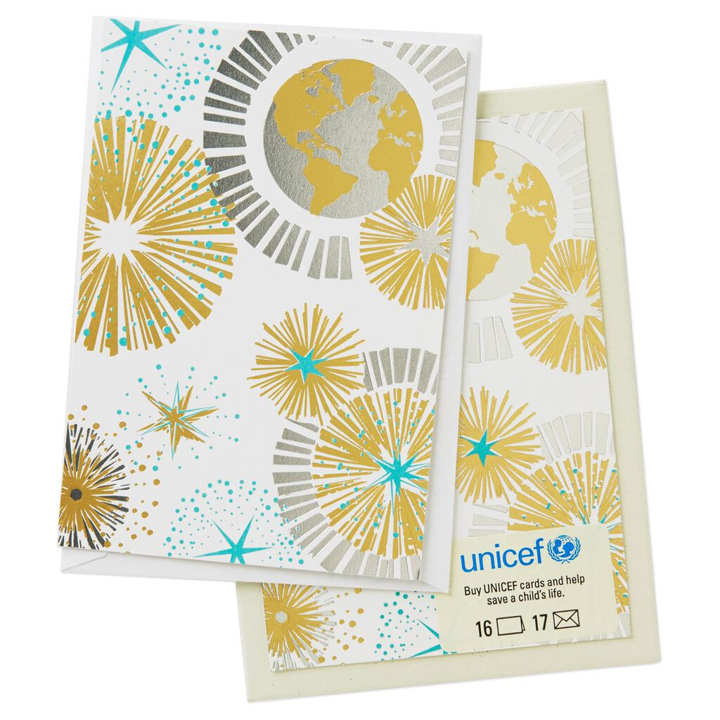 UNICEF Globe and Medallions Christmas Cards, Box of 16 - Boxed Cards ...