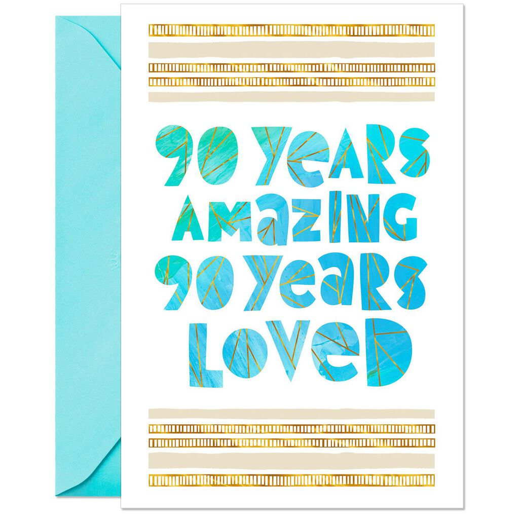 Celebrating You 90th Birthday Card