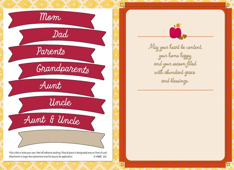 cornucopia thanksgiving card with customizable family recipient stickers cornucopia thanksgiving card with customizable family recipient stickers