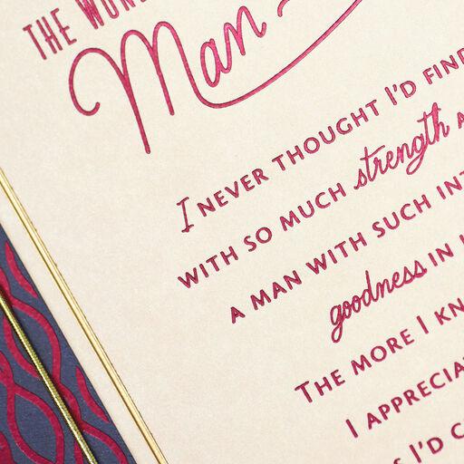 The Wonderful Man I Love Birthday Card