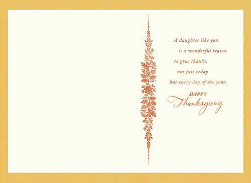 So Thankful for You Thanksgiving Card for Daughter,