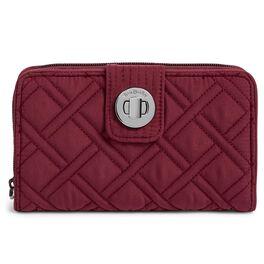 Vera Bradley RFID Turnlock Wallet in Hawthorn Rose, , large