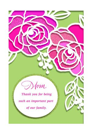 For a Wonderful Woman Mother's Day Card From Family
