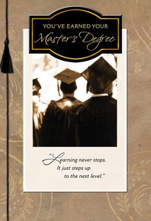 Earning Your Master's Degree Graduation Card,