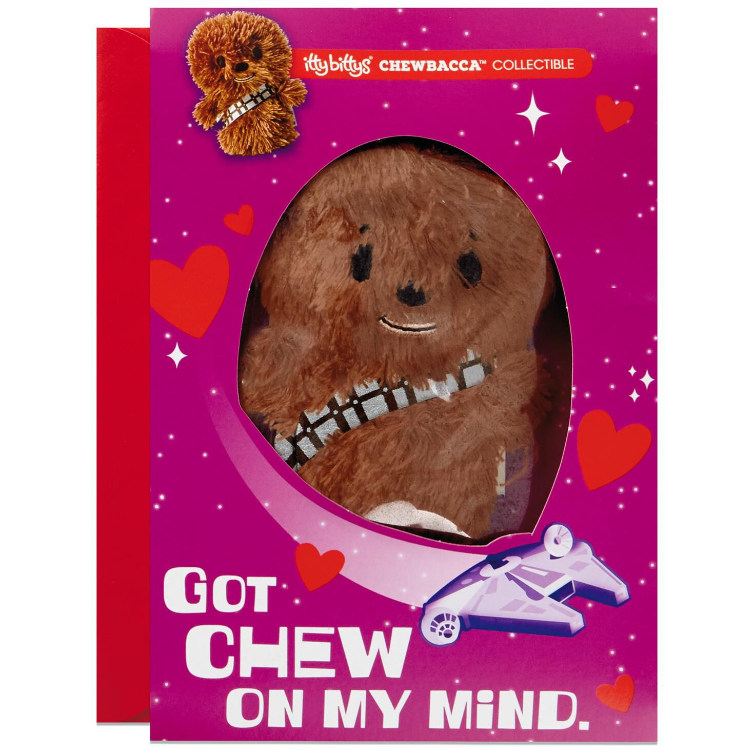 ... Itty Bittys® Star Wars™ Chewbacca™ Valentineu0027s Day Card With Stuffed  Animal ...