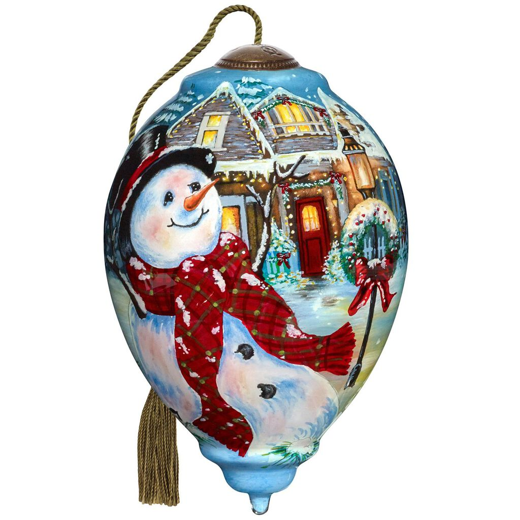 Precious Moments Old Fashioned Christmas Ne Qwa Art Glass Ornament