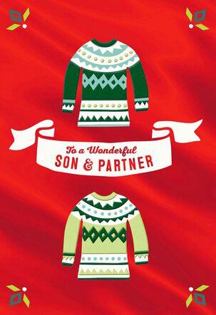 Wonderful Son and Partner Christmas Card