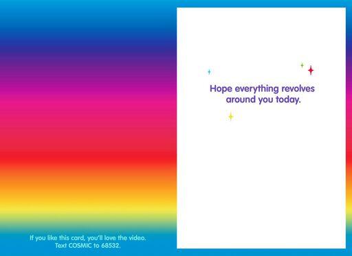Cosmic Dog Dreams Funny Birthday Card,