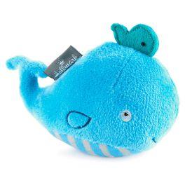 Mini Blue Whale Plush Rattle, , large