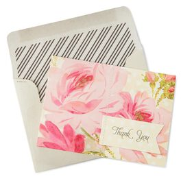 Pink French Rose Thank You Notes, Pack of 8, , large