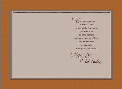 You Make Your Family Proud Spanish-Language Father's Day Card for Son,