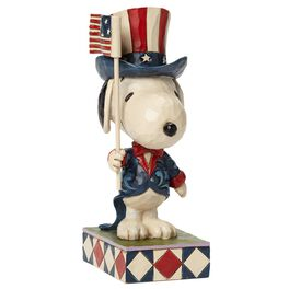 Jim Shore Patriot—Patriotic Snoopy Figurine, , large