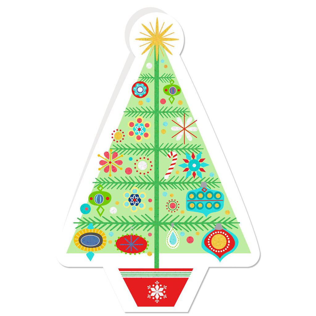 Decorated Tree Christmas Cards, Pack of 6 - Boxed Cards - Hallmark