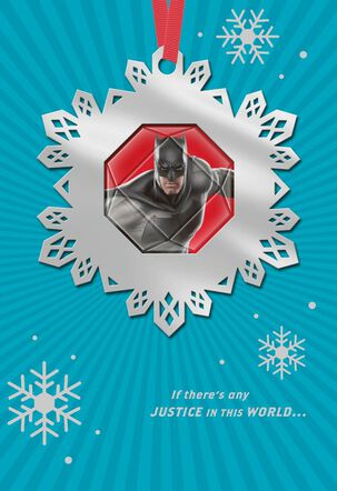 Batman™ Justice In the World Christmas Card With Ornament