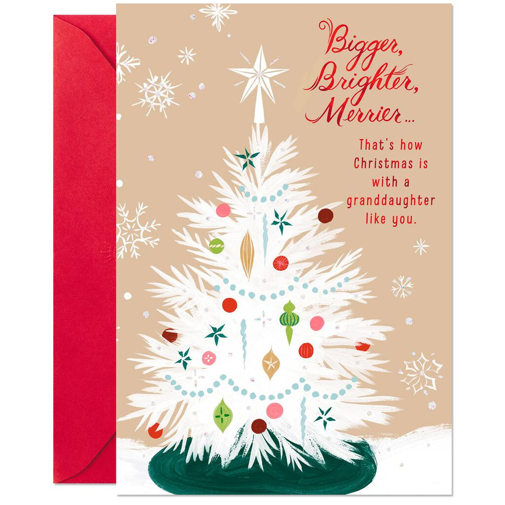 Love and Joy Christmas Card for Granddaughter - Greeting Cards ...