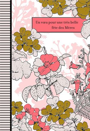 Beautiful Wishes French-Language Mother's Day Card