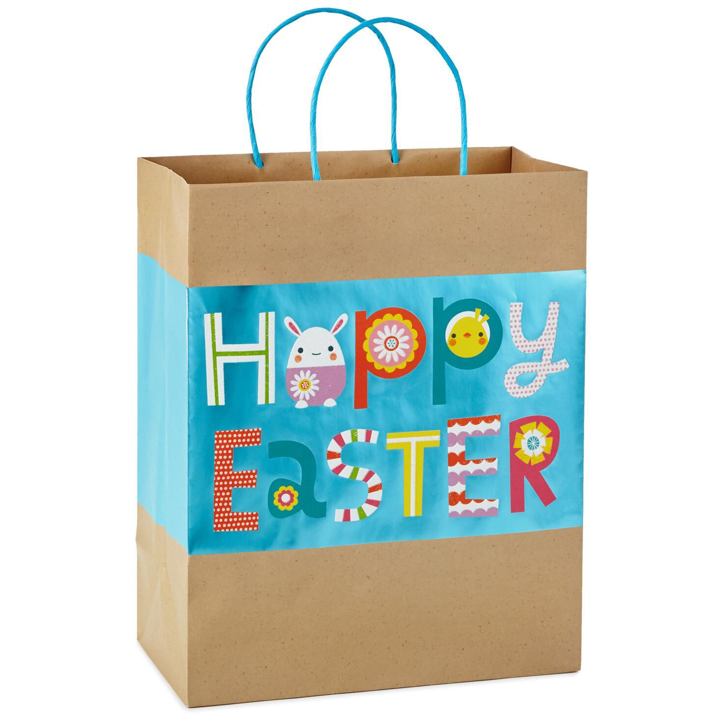 Happy easter kraft large gift bag 13 gift bags hallmark negle Images