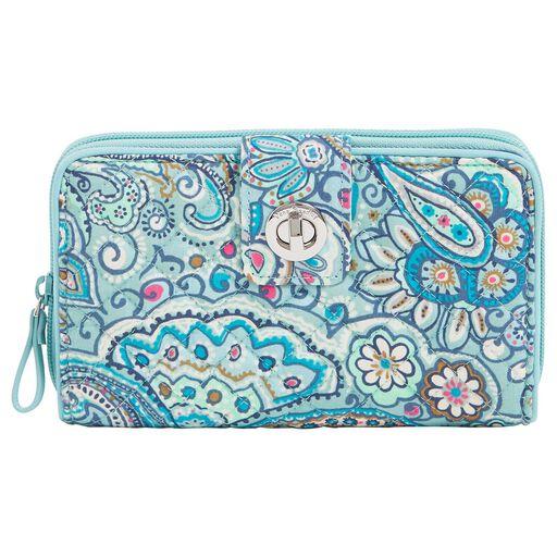 c4946cdae7e1 Vera Bradley RFID Turnlock Wallet in Daisy Dot Paisley