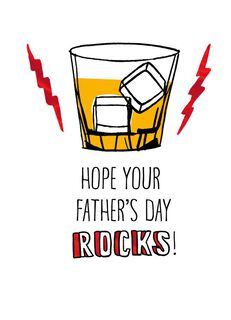 On the Rocks Father's Day Card,