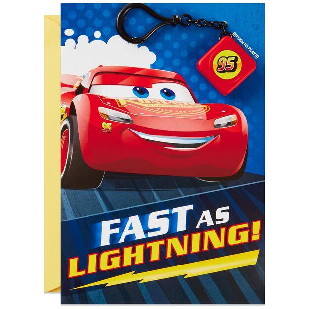 DisneyPixar Cars Lightning McQueen Birthday Card With Light and – Lightning Mcqueen Birthday Card