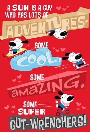 Adventurous Son Valentine's Day Card