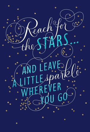 Stars and Sparkles Graduation Card for Relative